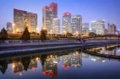 Beijing CBD Skyline — Stock Photo