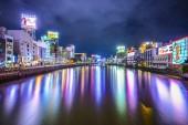 Fukuoka, Japan River Cityscape — Stock Photo