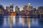Atlanta, Georgia Piedmont Park Skyline — Stock Photo
