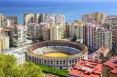 Malaga, Spain Cityscape at — Stock Photo
