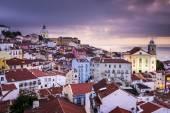 Lisbon, Portugal Skyline at Alfama — Stock Photo