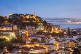 Lisbon, Portugal Skyline and Castle — Stock Photo