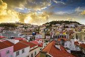 Lisbon, Porgual Dawn Skyline — Stok fotoğraf