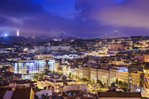 Lisbon, Portugal Skyline at Night — Stock Photo