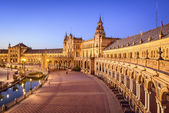 Spanish Square of Seville, Spain — Stockfoto