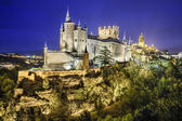 Segovia, Spain Alcazar at Night — Stock Photo