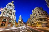 Madrid, Spain Gran Via Cityscape — Stockfoto