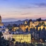 Malaga, Spain Cityscape on the Sea — Stock Photo #56389525