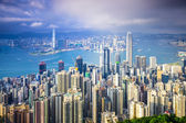 Hong kong, china-city-skyline — Stockfoto
