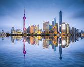 Shanghai, China City Skyline — Stock Photo