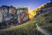 Ronda, İspanya Puento Nuevo köprüsünde — Stok fotoğraf