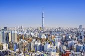 Tokyo, Japan Cityscape View — Stock Photo