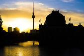 Berlin Silhouette — Stock Photo