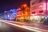 Miami, Florida at Ocean Drive — ストック写真
