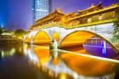 Chengdu, China at Anshun Bridge — Stock Photo