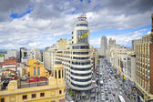 Gran Via, Madird, Spain Cityscape — Stock Photo
