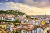 Lisbon, Portugal Skyline and Castle — Stock Photo