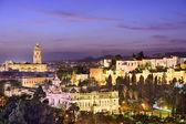 Malaga, Spain Cityscape on the Sea — Stock Photo