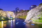 Tokyo Imperial Palace Moat in the Spring — Stock Photo