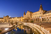 Spanish Square of Seville, Spain — Foto Stock