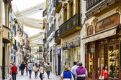 Seville Shopping Street — Stock Photo