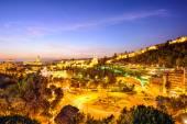 Paesaggio urbano di Malaga, Spagna sul mare — Foto Stock