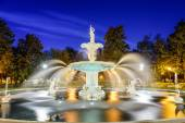 Savannah Georgia at Forsyth Park — Stock Photo
