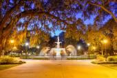 Forsyth Park in Savannah, GA — Stock Photo