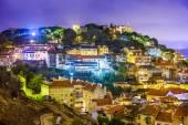 Lisbon, Portugal at Night — Stock Photo