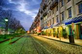 Savannah, Georgia, USA at River Street — Stockfoto
