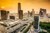 Beijing, China Financial District Skyline — Stock Photo