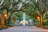 Forsyth Park in Savannah, Georgia — Stock Photo