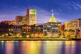 Savannah, Georgia Riverfront Skyline — Stock Photo