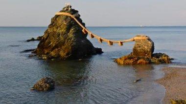 Wedded Rocks of Ise Japan — Stock Video