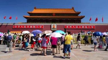 Tiananmen Square Crowds — Stock Video