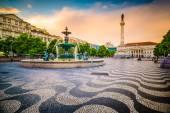 Placu Rossio z Lizbony — Zdjęcie stockowe