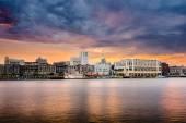 Savannah Georgia Riverfront Skyline — Stock Photo