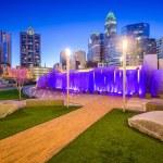 Charlotte Skyline and Park — Stock Photo #70465375