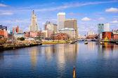 Providence rivier Skyline — Stockfoto