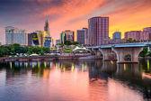 Hartford, Connecticut Skyline — Stock Photo