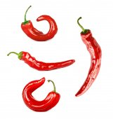 Collage of chili pepper — Stock Photo