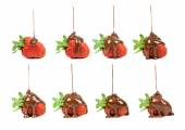 Set of chocolate poured on strawberries — Foto de Stock