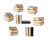Set of stacked old books — Stock Photo