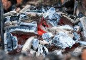 Smoldering  wooden coal — Stock Photo