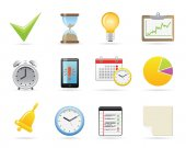 Time Management Icons — Stock Vector