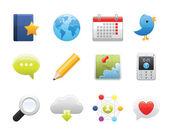 Social Media Set 2 — Stock Vector