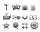 Gambling Icons Silhouette Series Set — 图库矢量图片