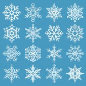 Snowflakes Holiday Set — Stock Vector