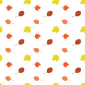 Jesienią liście wzór — Wektor stockowy