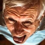Senior man making funny face — Stock Photo #53511841